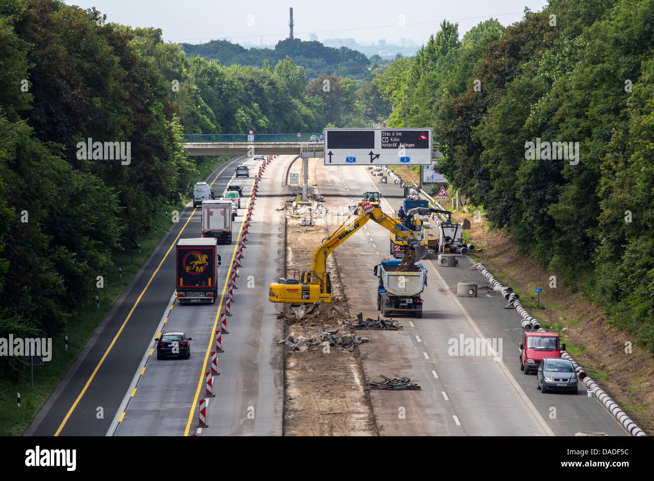 highway construction work a52 german autobahn highway