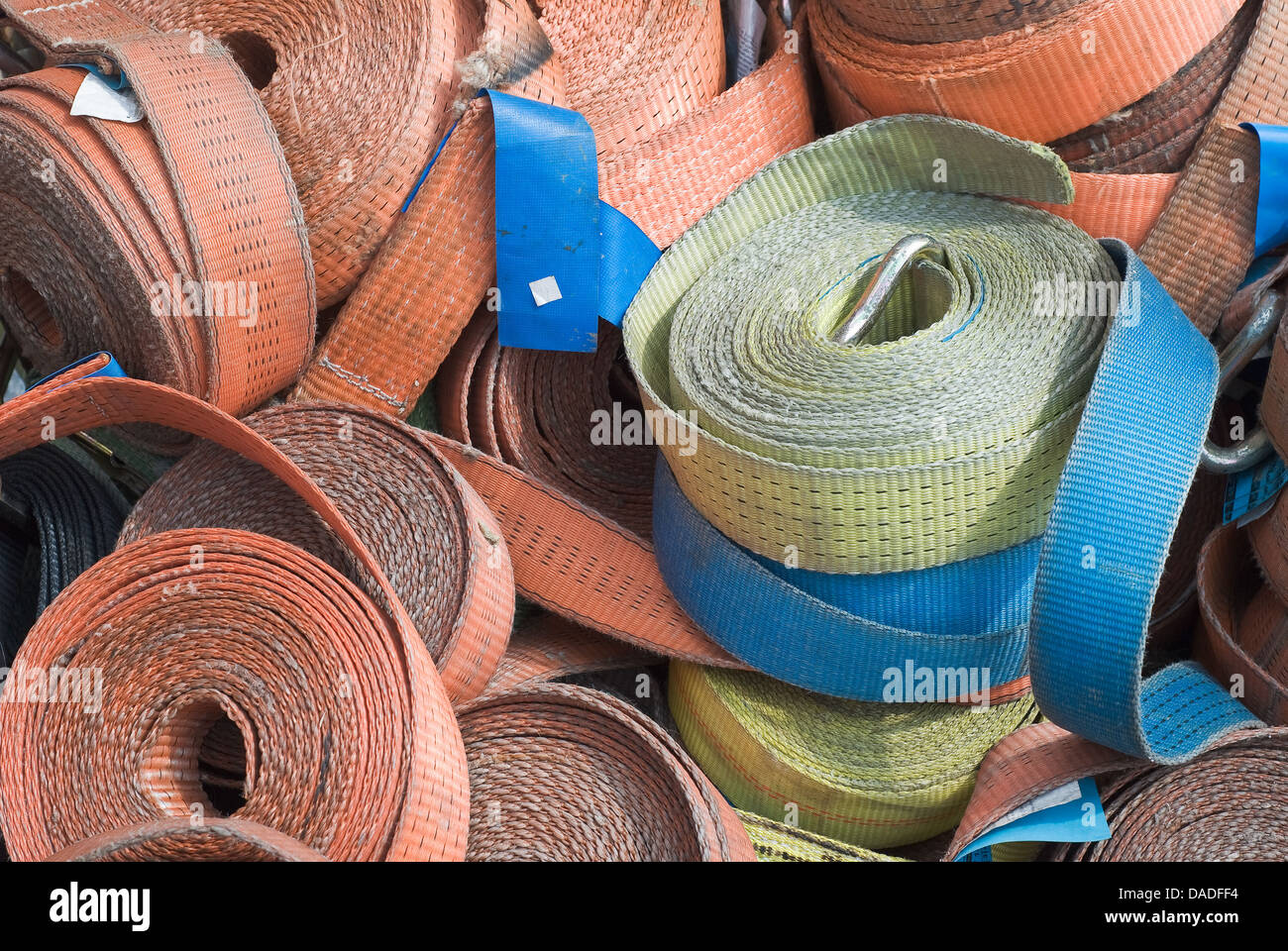 Heavy Duty Industrial Belts for Protection and Security - Stock Image