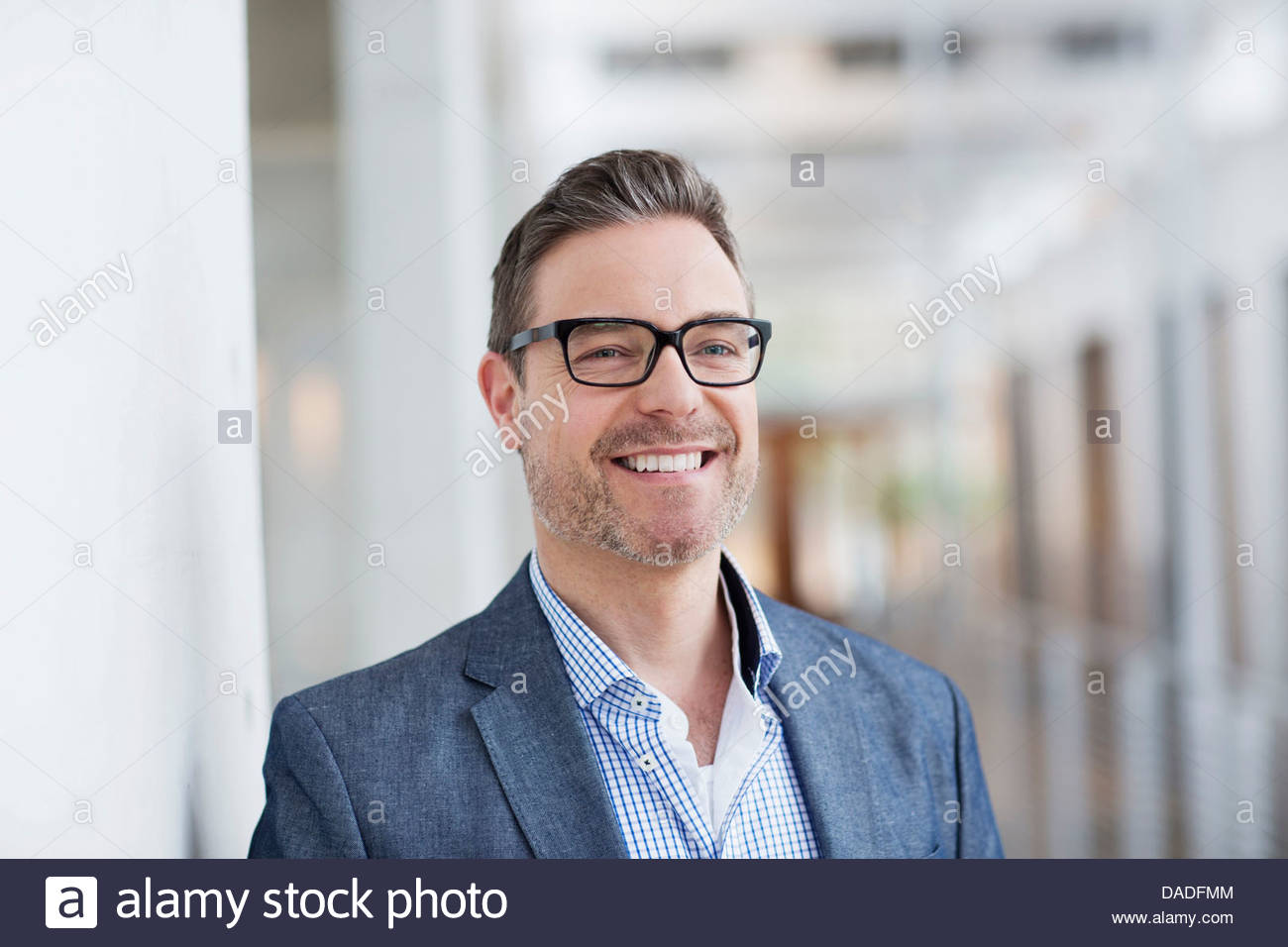 Man with toothy smile - Stock Image
