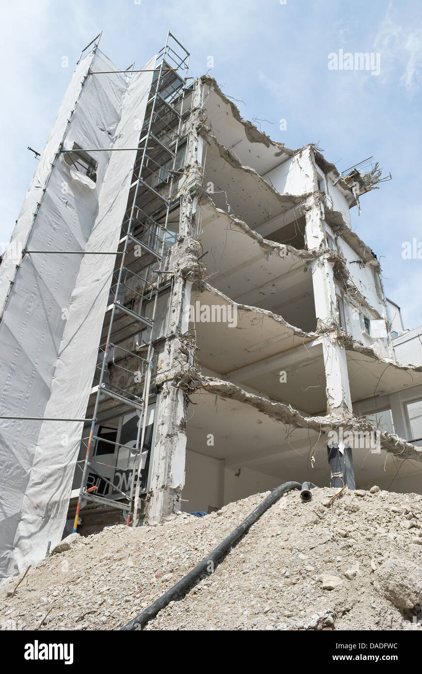 Building Demolition as Sign of Urban Renewal - Stock Image