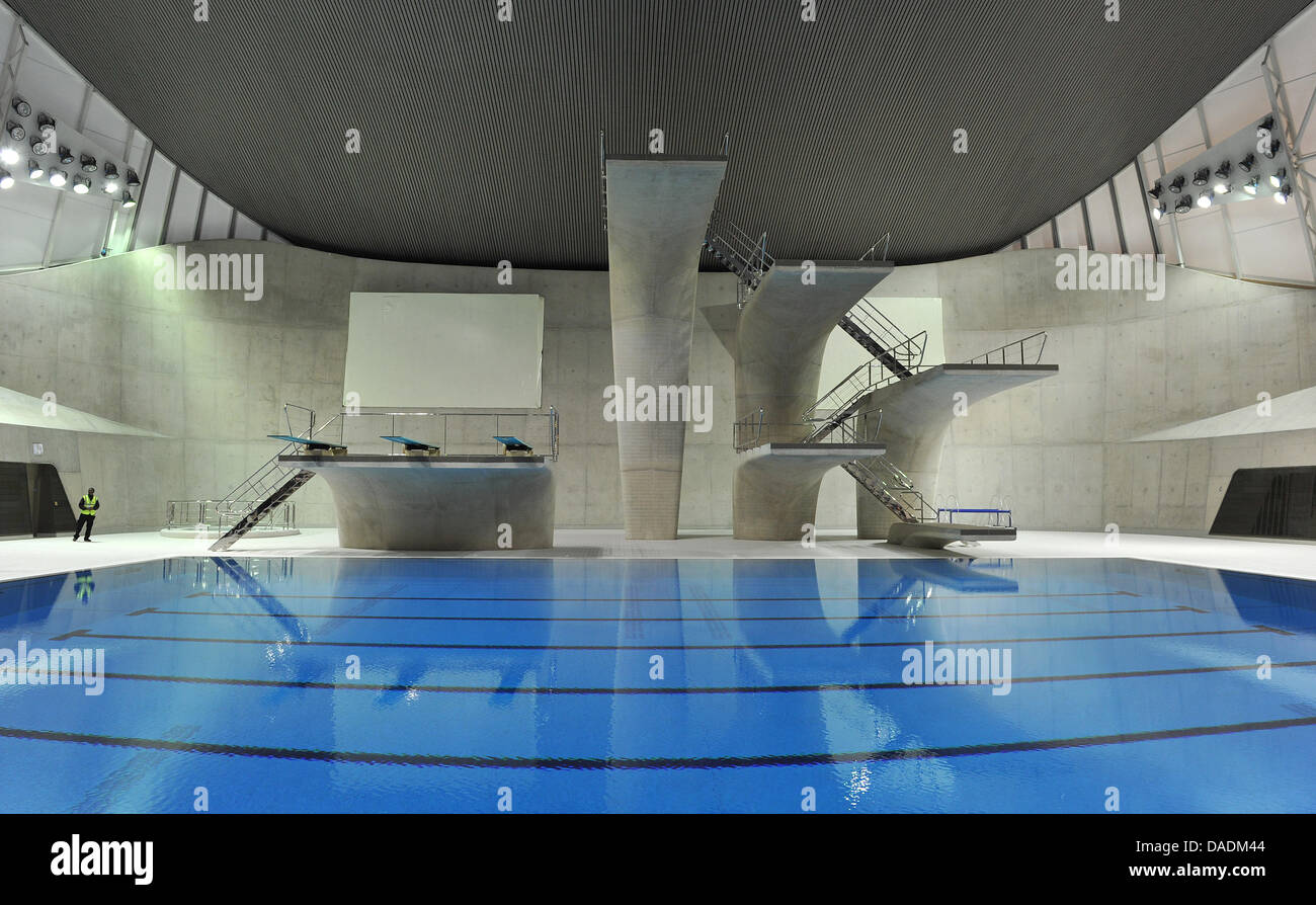 The Swimming Stadium Aquatics Centre Designed By Architect Zaha Stock Photo Alamy
