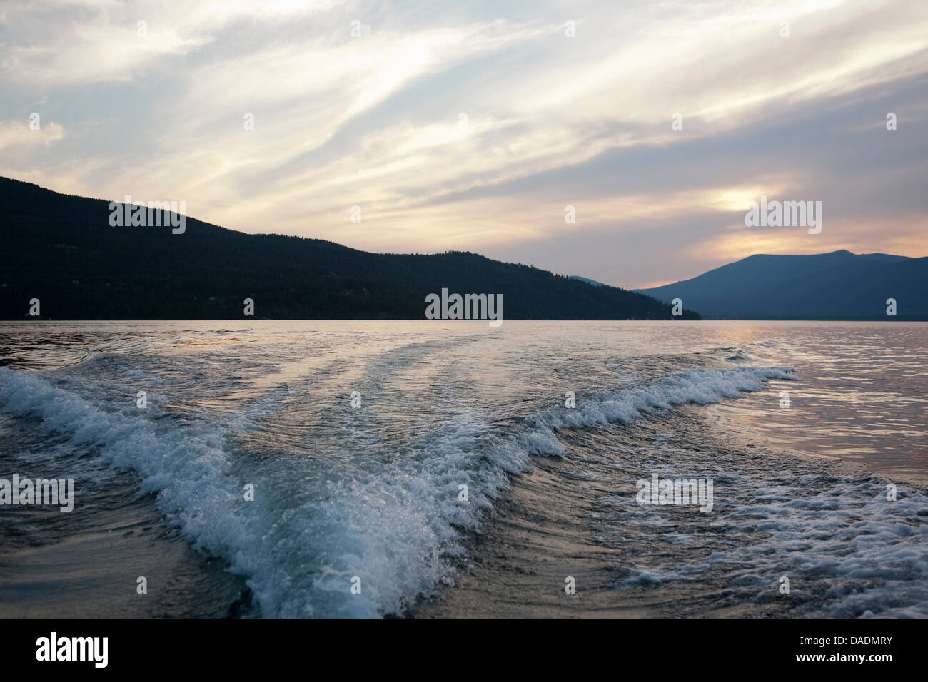 Waves, Lake Pend Oreille, Idaho, USA - Stock Image