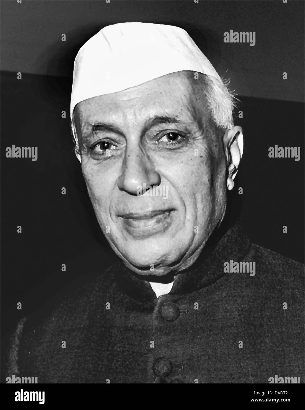Indian prime minister Jawaharlal Nehru in 1960. Portrait by photographer Fred Stein (1909-1967) who emigrated 1933 - Stock Image