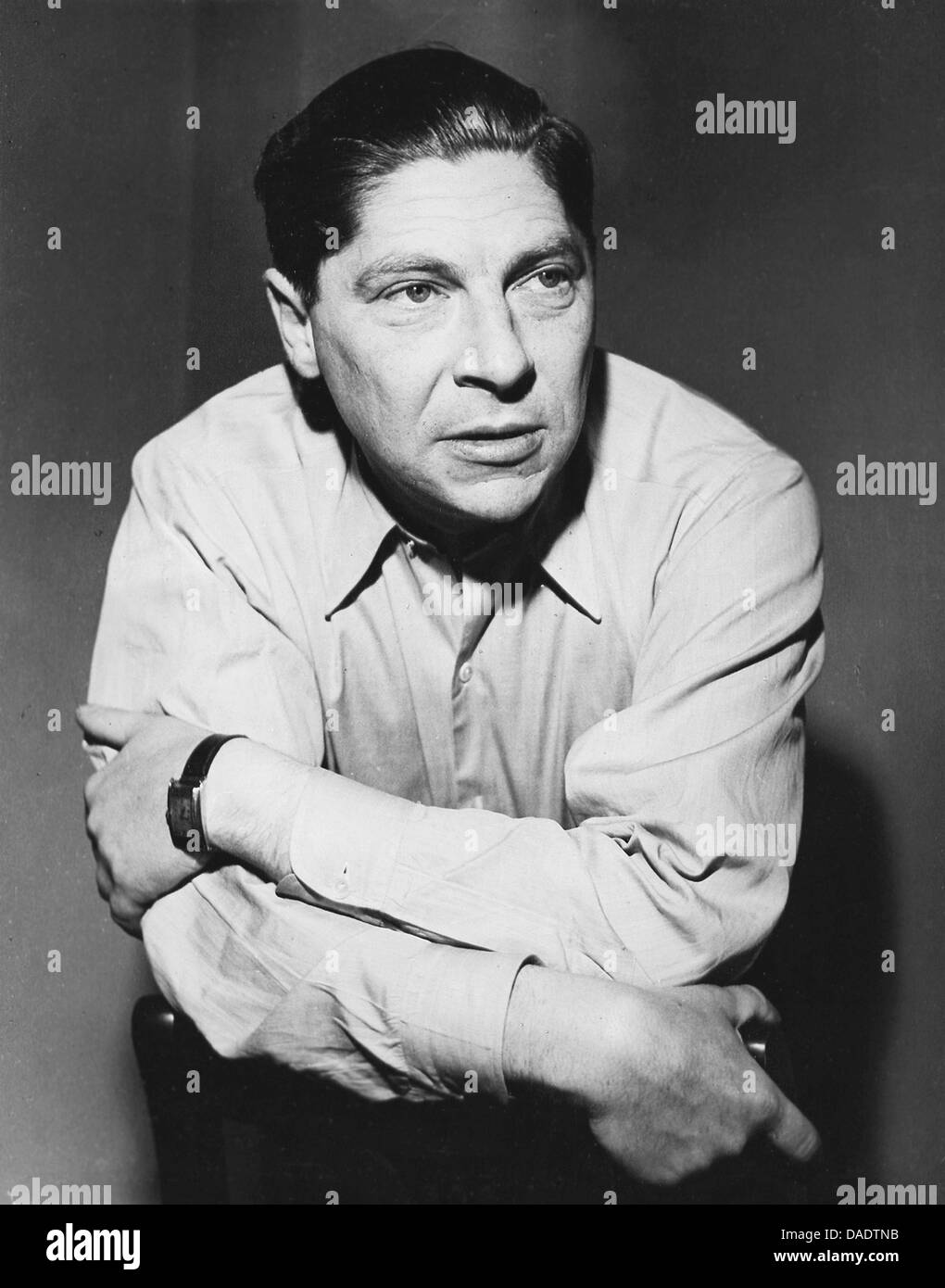 Author Arthur Koestler in the 1960th. Portrait by photographer Fred Stein (1909-1967) who emigrated 1933 from Nazi Stock Photo