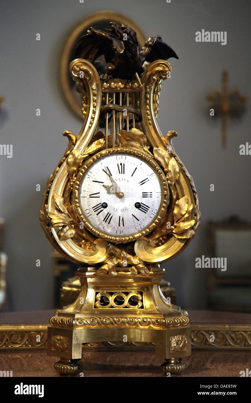 Mantel clock.Paris.1768.movement;Julien le Roy. - Stock Image