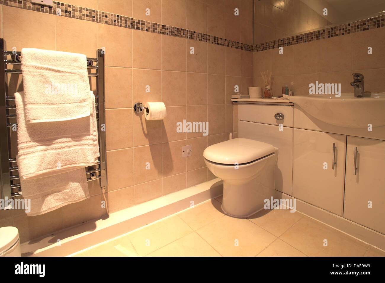Interior of a hotel bathroom with ceiling lights shower cubicle interior of a hotel bathroom with ceiling lights shower cubicle toilet and furnishings mozeypictures Choice Image