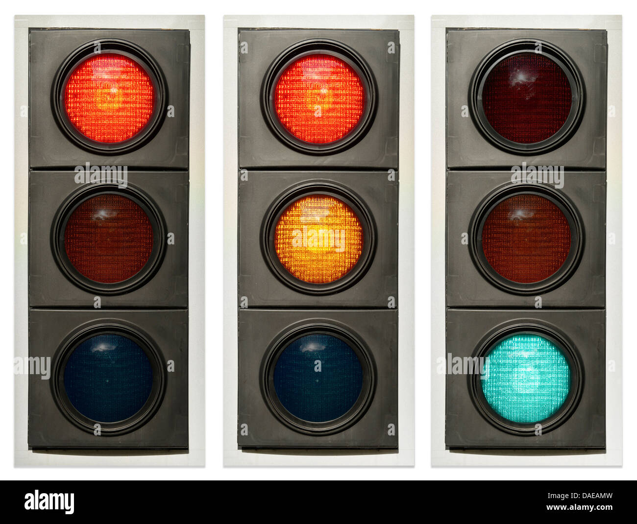 Traffic light sequence - Stock Image