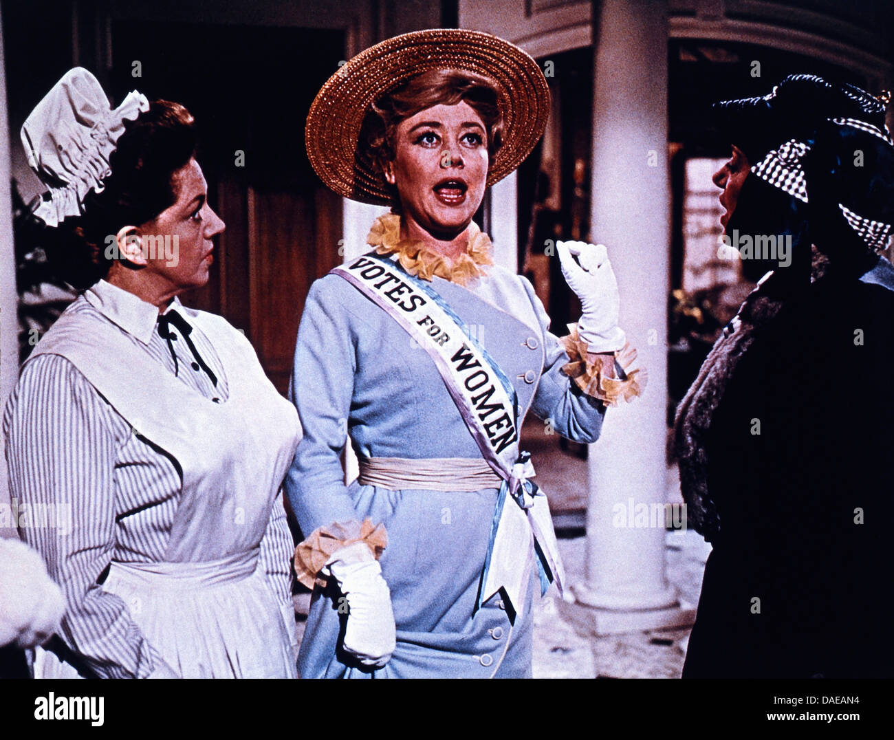 Glynis Johns (center with sash), on-set of the Film, 'Mary Poppins', Walt Disney Productions, Buena Vista - Stock Image
