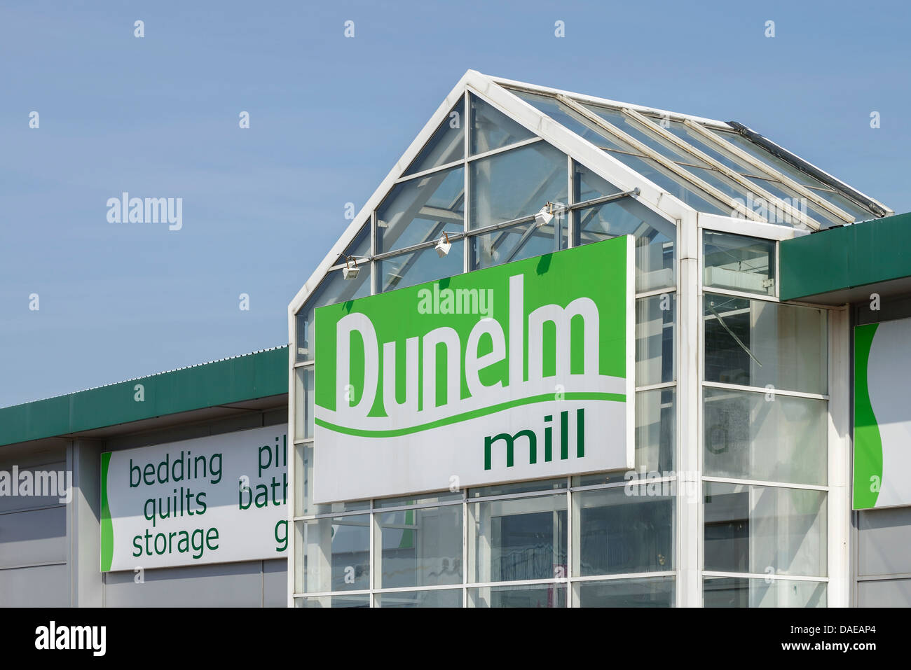 Dunelm Mill store on a retail park - Stock Image