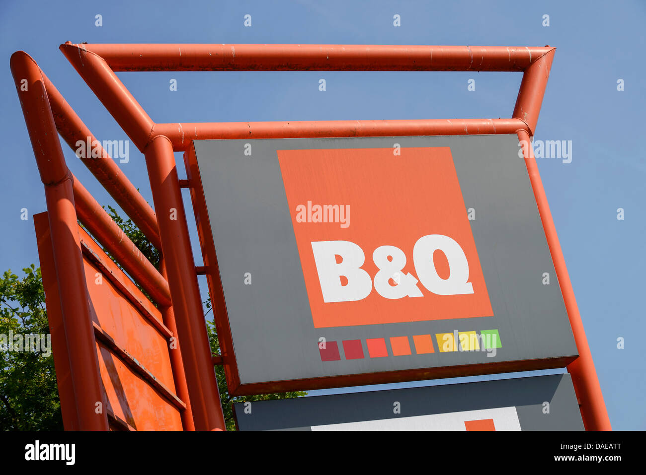 B&Q signage - Stock Image