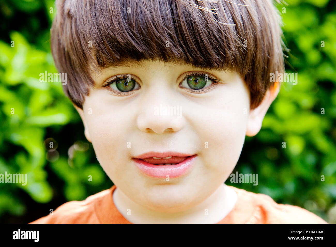 Young Boy With Green Eyes, Portrait Stock Photo: 58095472