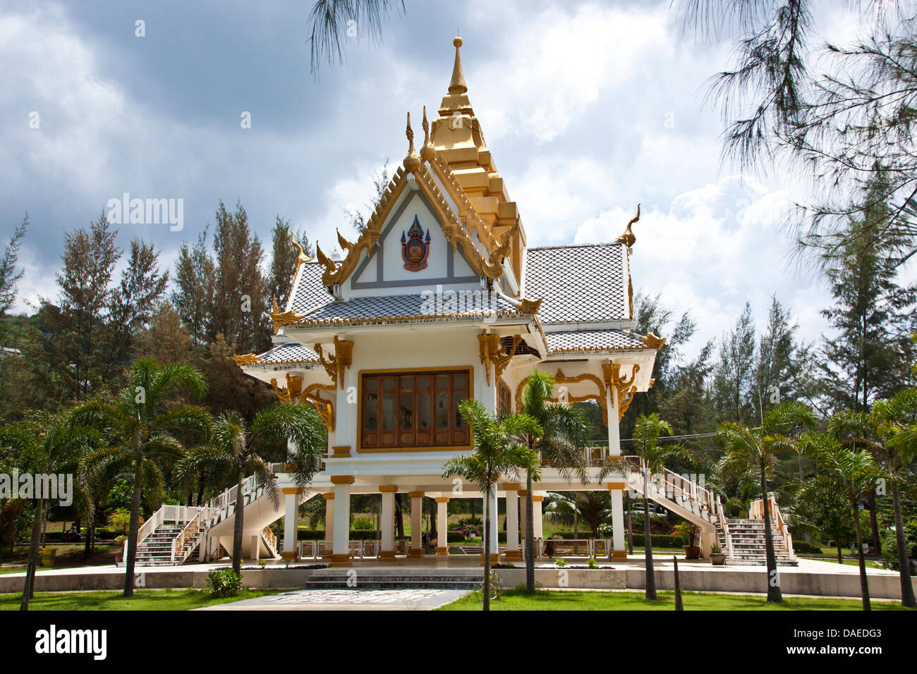 buddah temple, pagoda, Thailand, Phuket Stock Photo