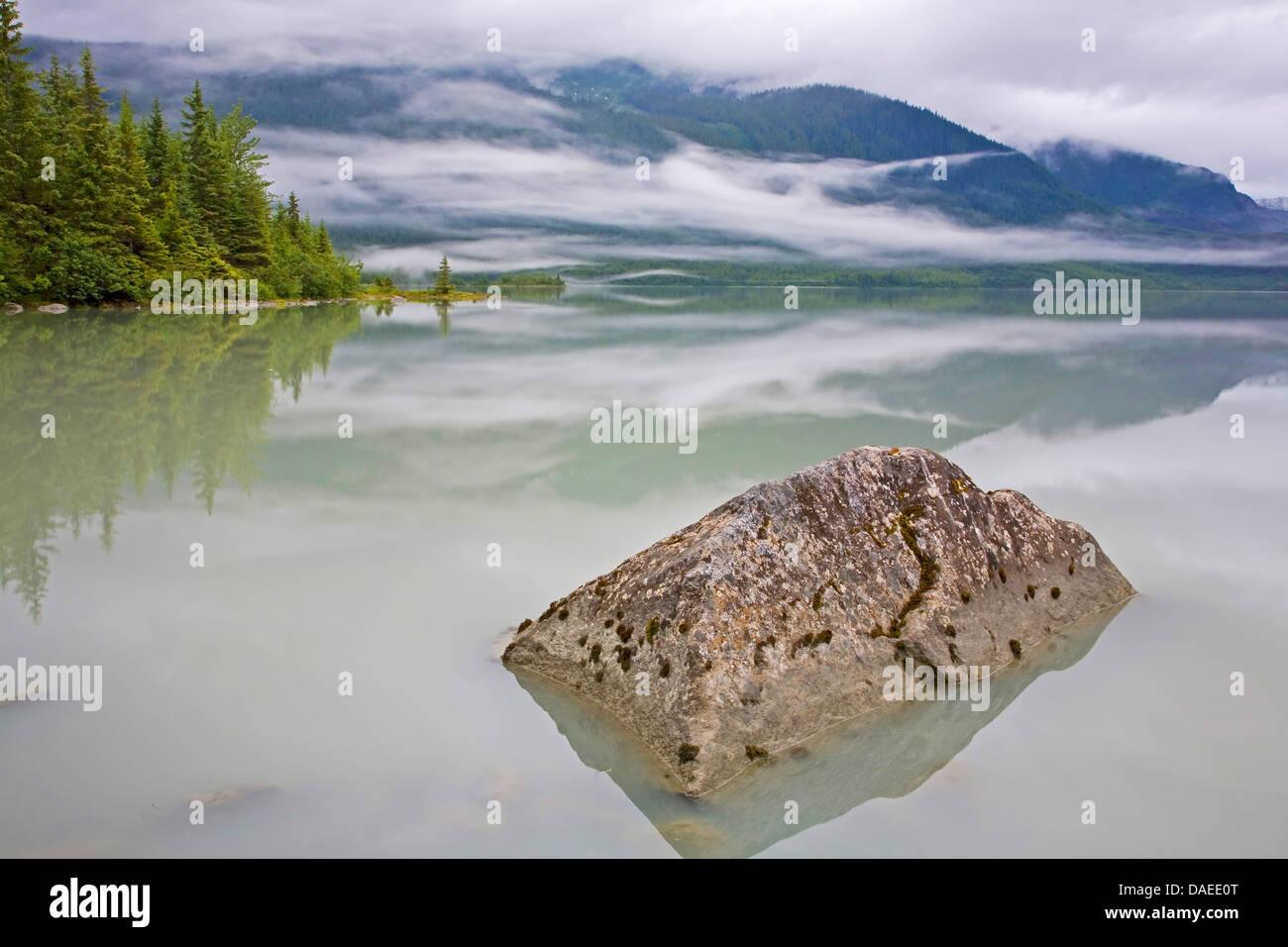 Mendenhall Lake , USA, Alaska, Juneau Stock Photo