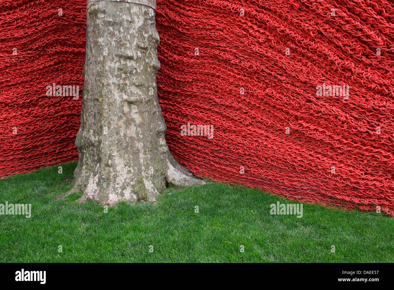 Orly Genger art installation in Madison Square Park, New York City - Stock Image