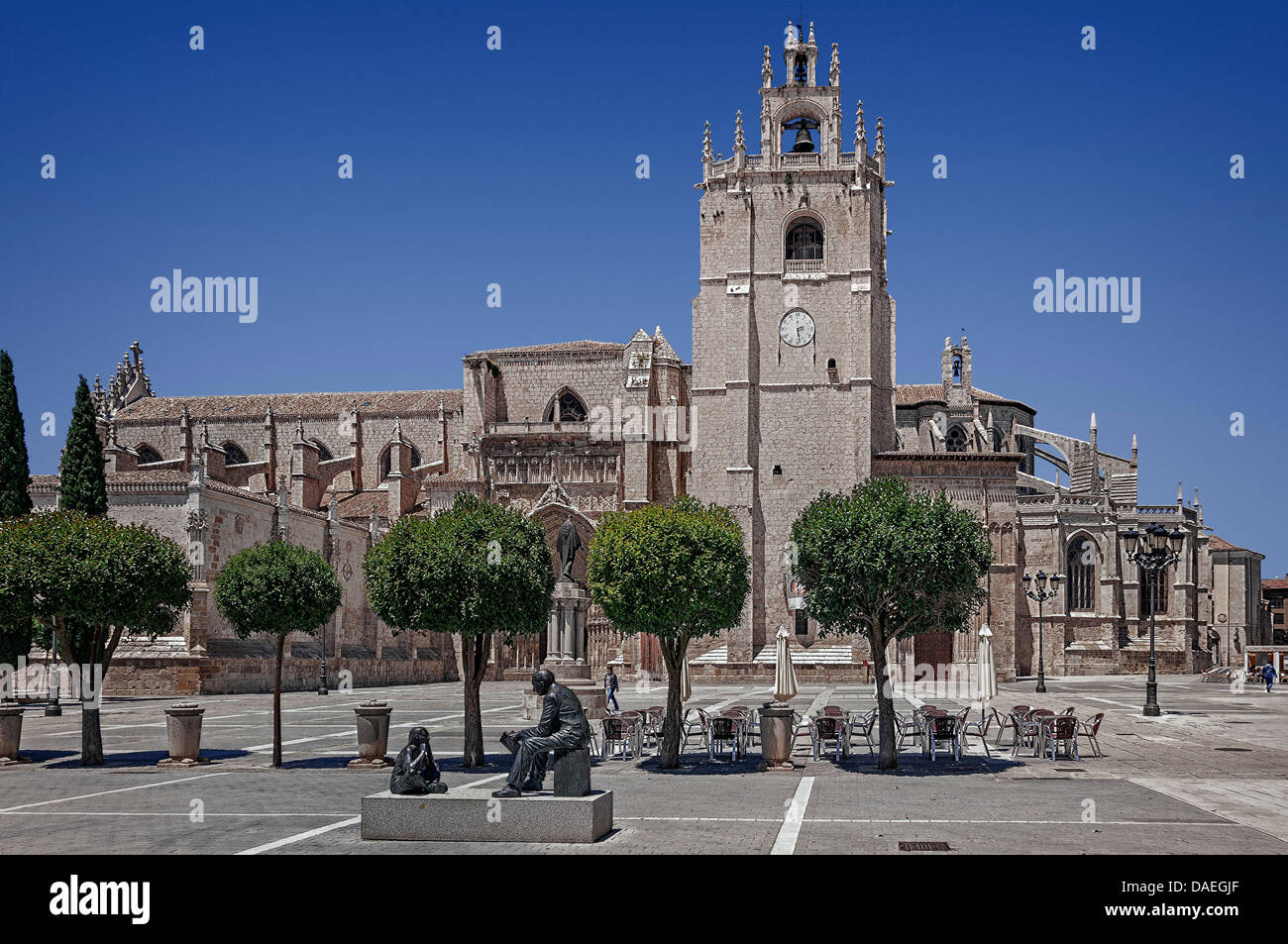 Palencia city Cathedral, province of  Castilla and Leon, Spain, Europe, EU - Stock Image