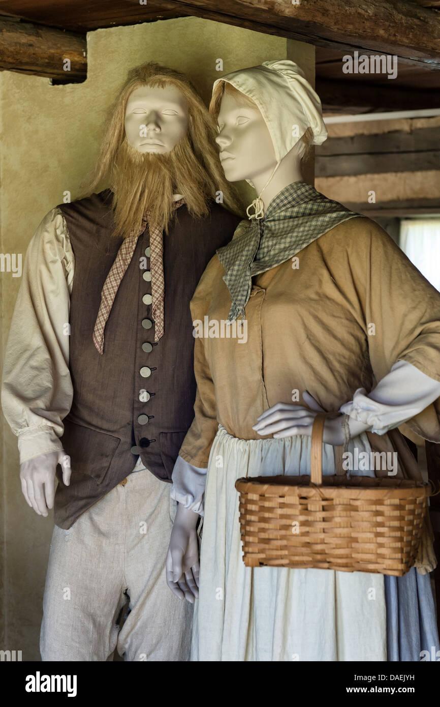 Traditional clothing, Ephrata Cloister, Pennsylvania, USA - Stock Image
