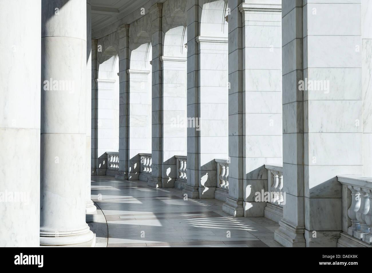 Elegant granite portico. - Stock Image