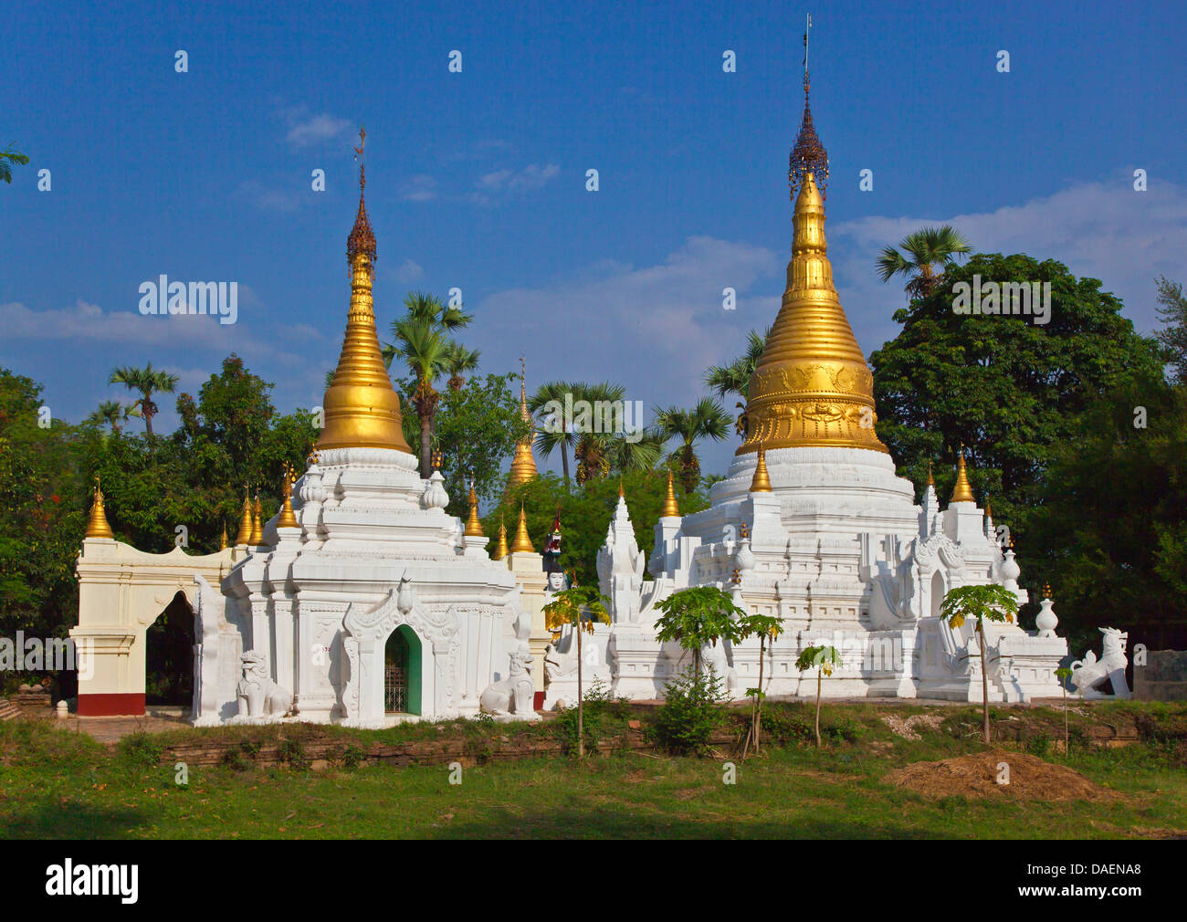 Buddhist shrines, Burma, Inwa - Stock Image