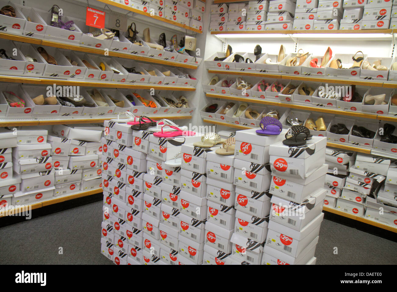 Miami Florida City Florida Florida Keys Outlet Center centre shopping Nine  West women s shoes sale retail display fashion shoe b 6ad3833fa013d