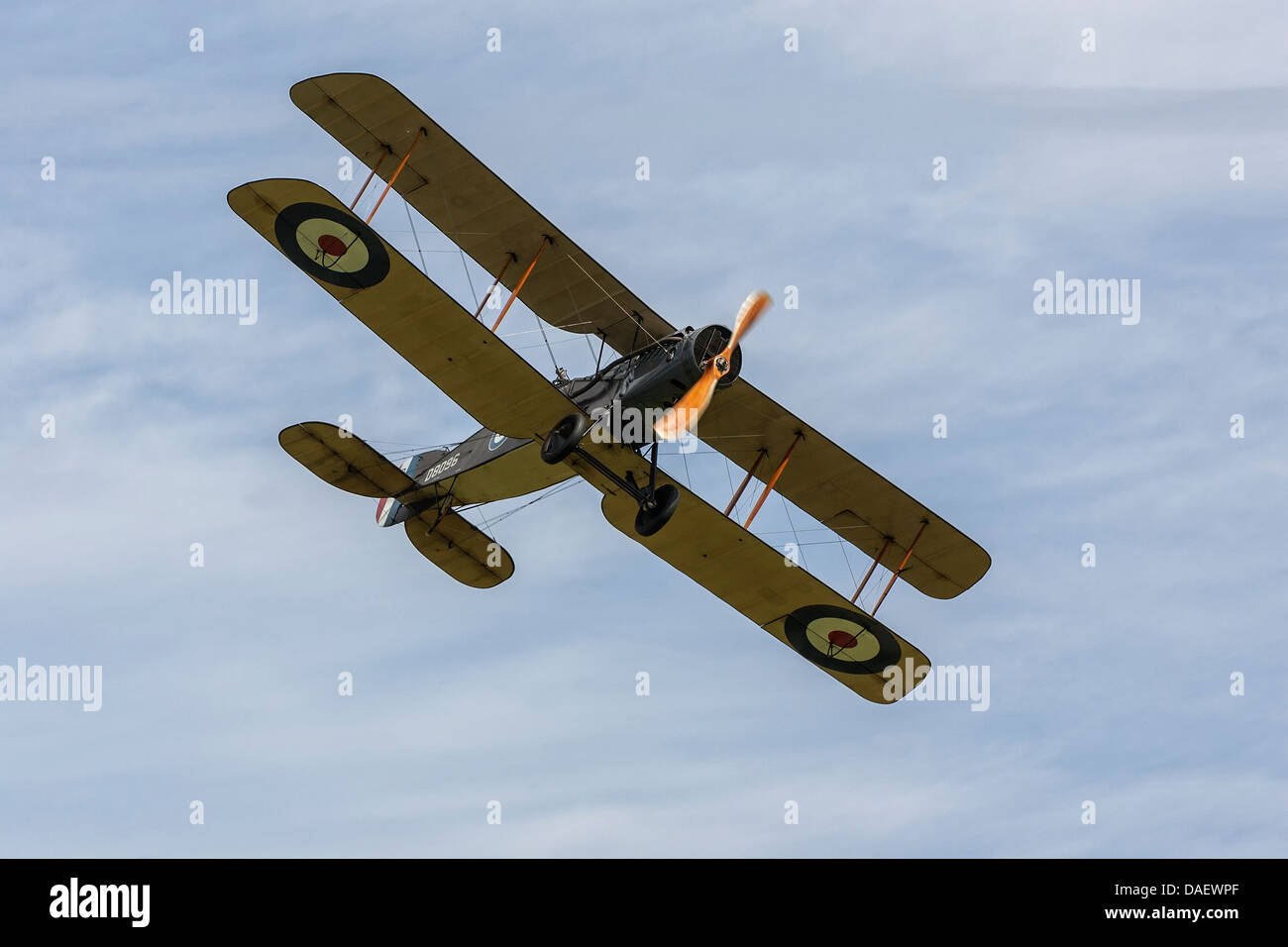 A classic Bristol F2B Fighter of the RFC, RAF - Stock Image
