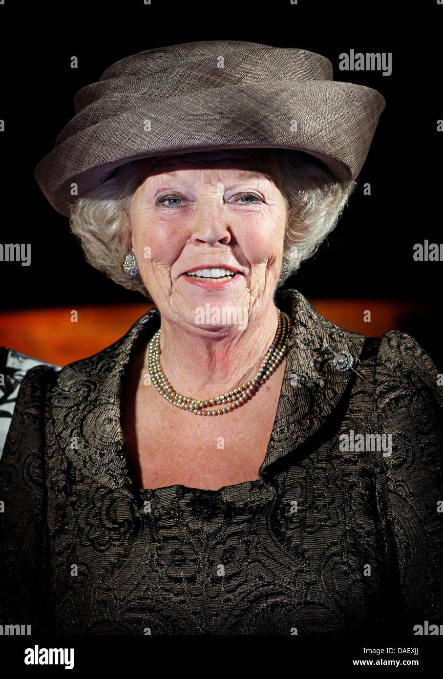 Queen Beatrix of The Netherlands attends the jubilee celebration of the Rheuma Foundation in the Hall of Knights - Stock Image