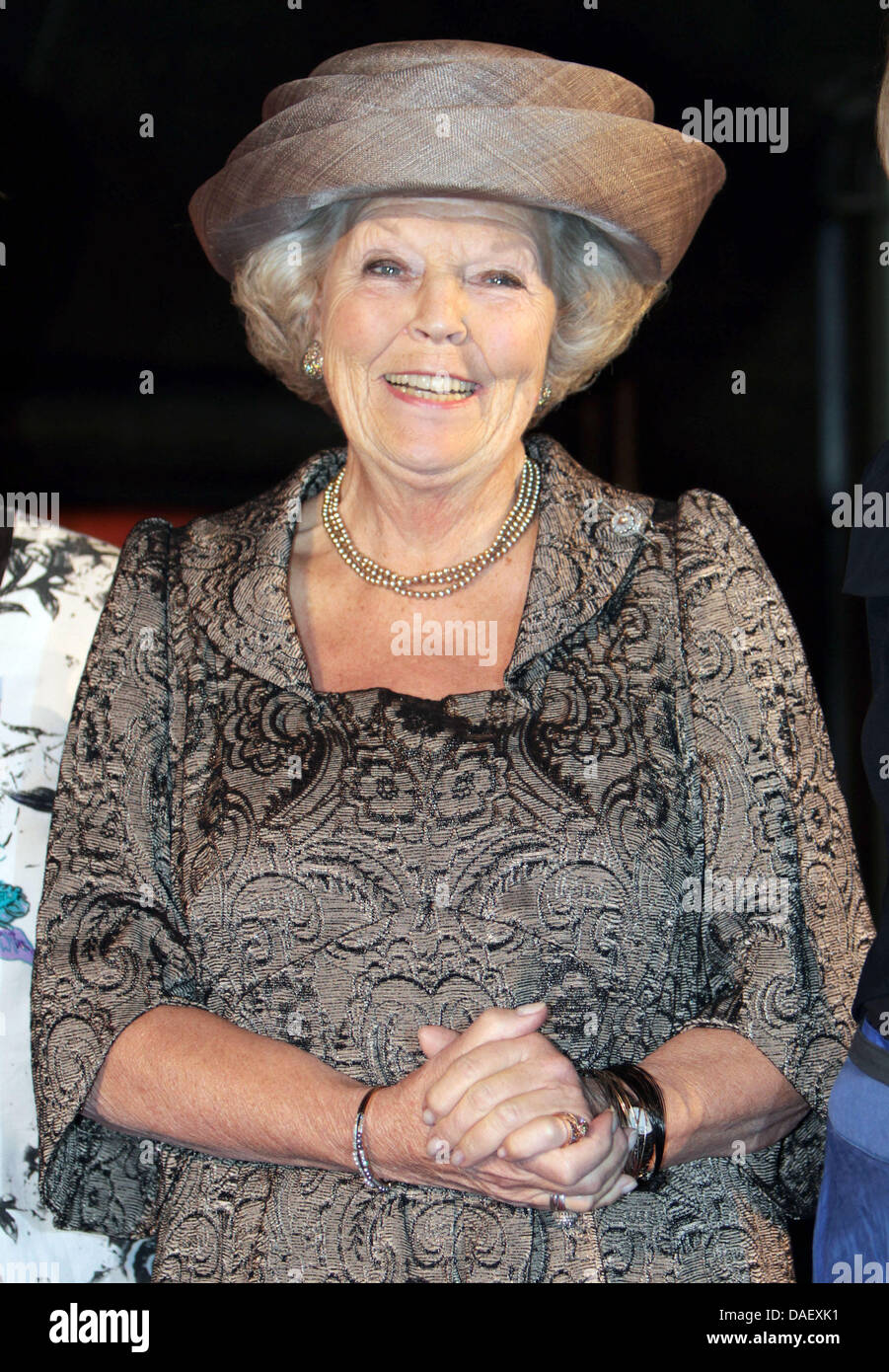 Queen Beatrix of The Netherlands attend the jubilee celebration of the Arthritis Foundation in the Hall of Knights - Stock Image
