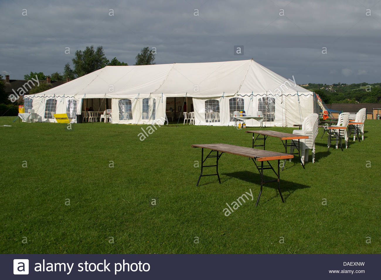 Checkpoint marquee on transpennine challenge - Stock Image