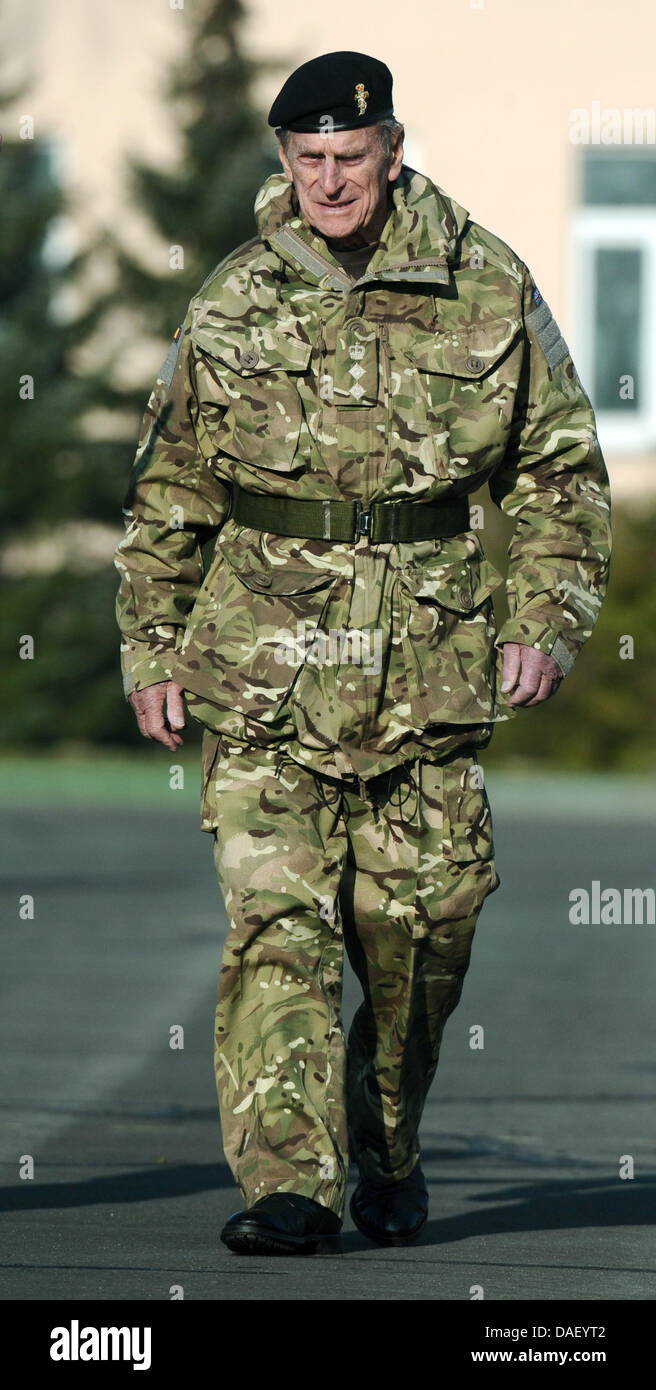 Prince Philip C Husband Of The Queen Visits British Troops At St