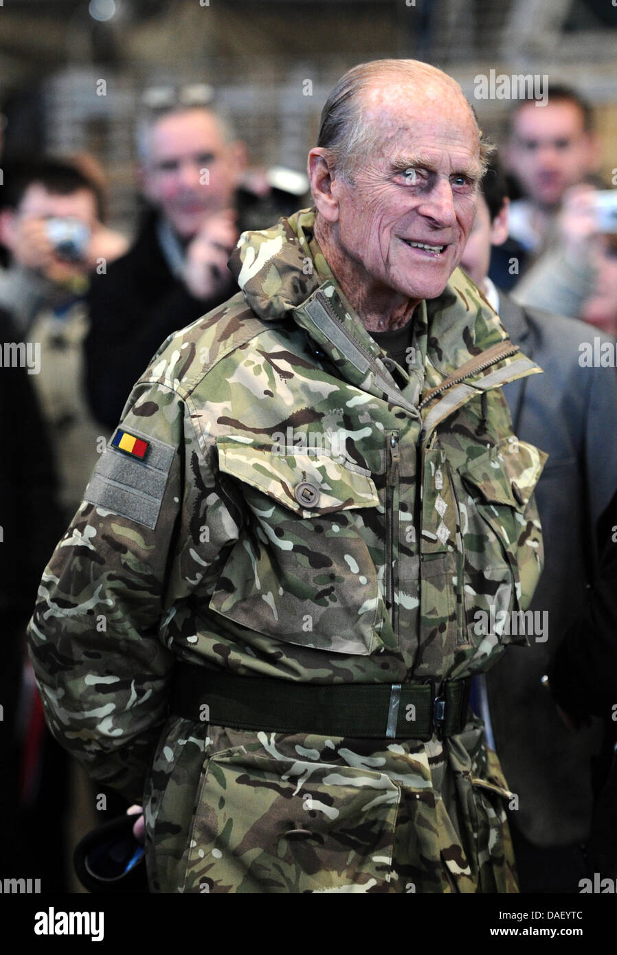 Prince Philip Husband Of The Queen Visits British Troops At St Barbara Kaserne