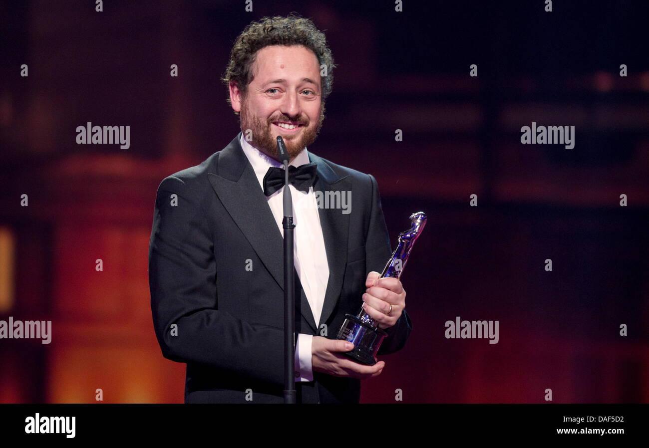 Der daenische Filmemacher Manuel Alberto Claro haelt am Samstag (03.12.11) in Berlin im Tempodrom bei der Verleihung Stock Photo