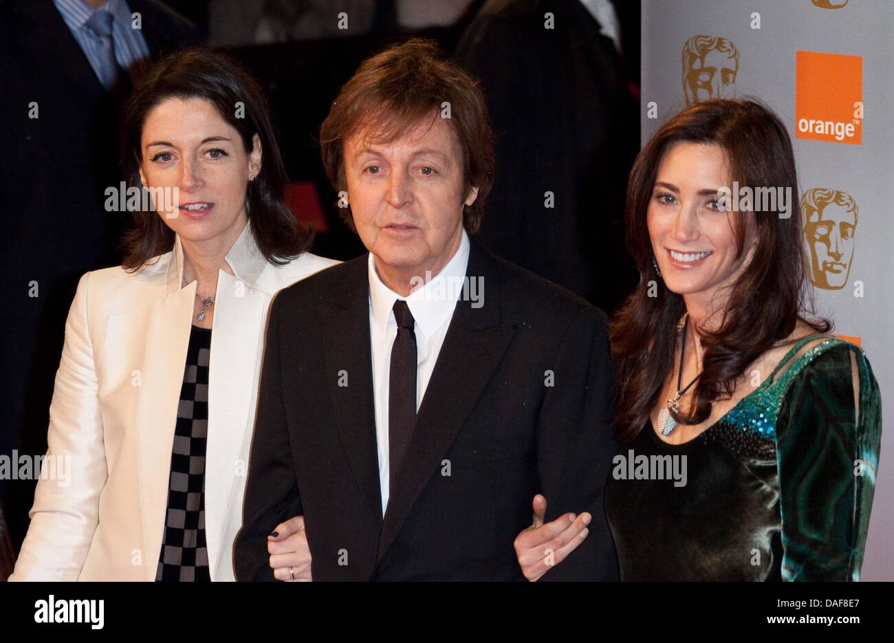 English Music Icon Paul McCartney C His Daughter Mary L And Partner Nancy Shevell R Attend The British Academy Film Awards BAFTA At Royal