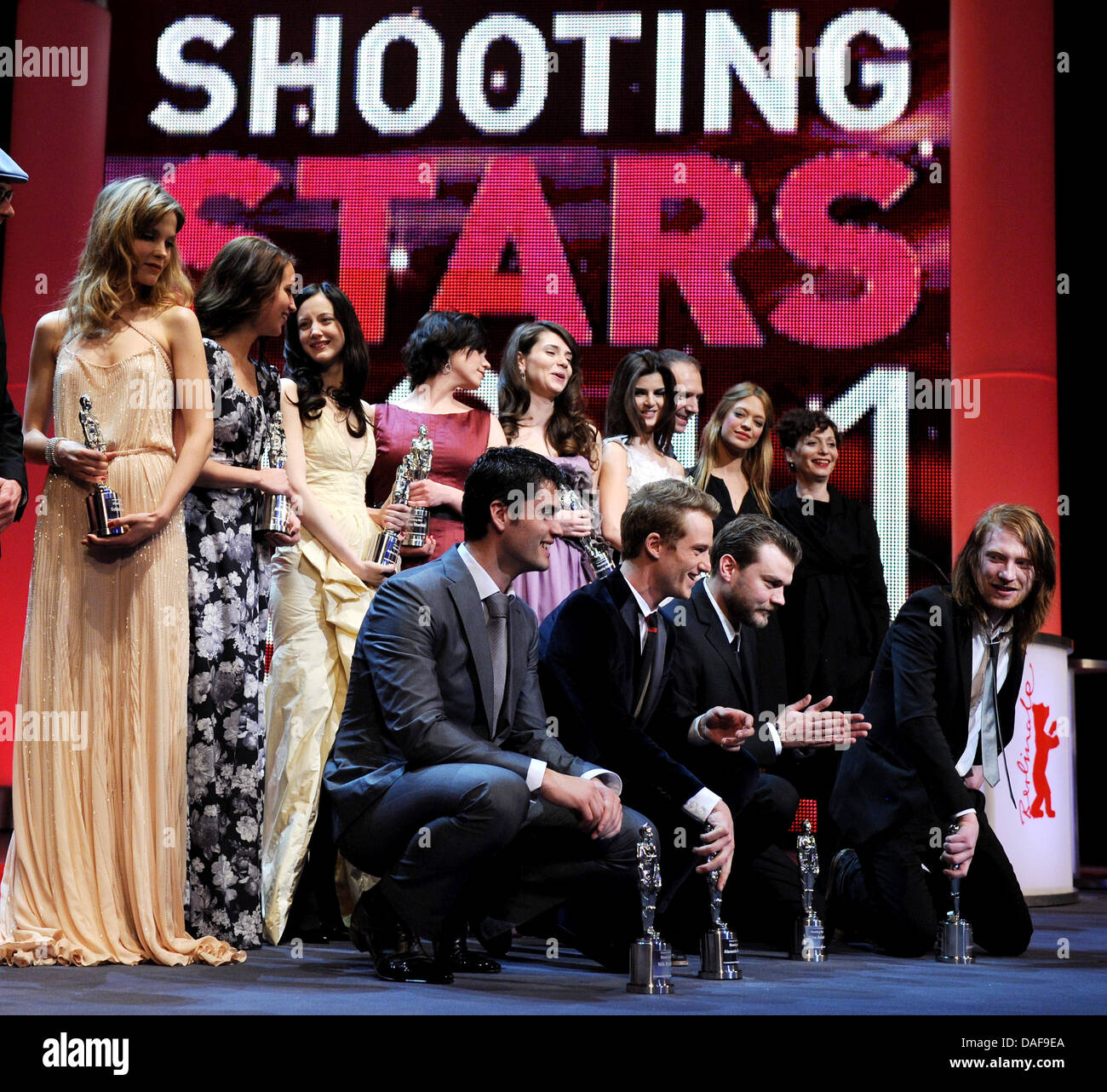 Young european actresses and actors are attending the awarding ceremony of the 'Shooting Stars'at the 61st Berlin Stock Photo