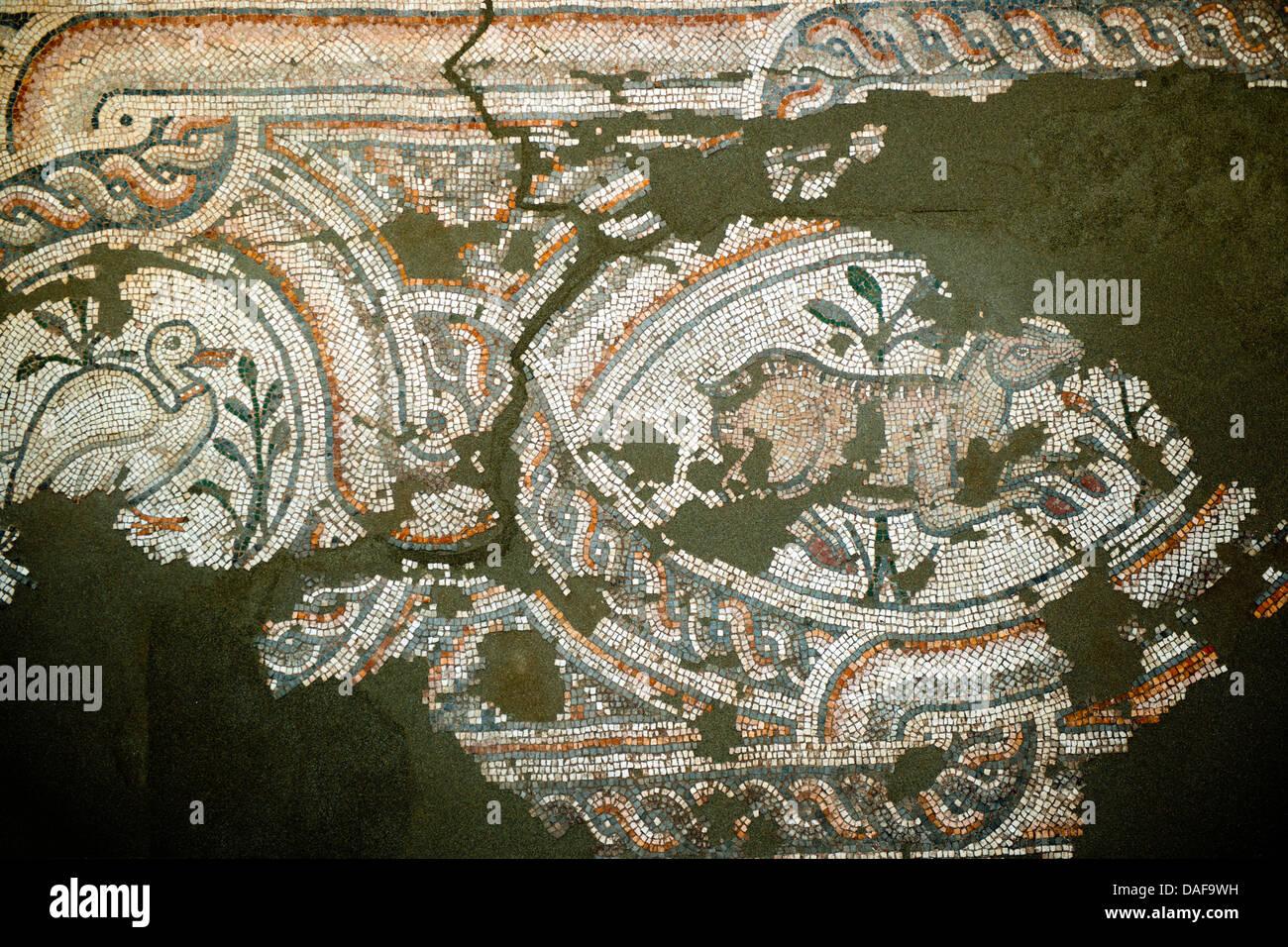 Türkei, Provinz Icel (Mersin), Anamur, Archäologisches Museum. Das kleine Museum im Ortsteil Iskele - Stock Image
