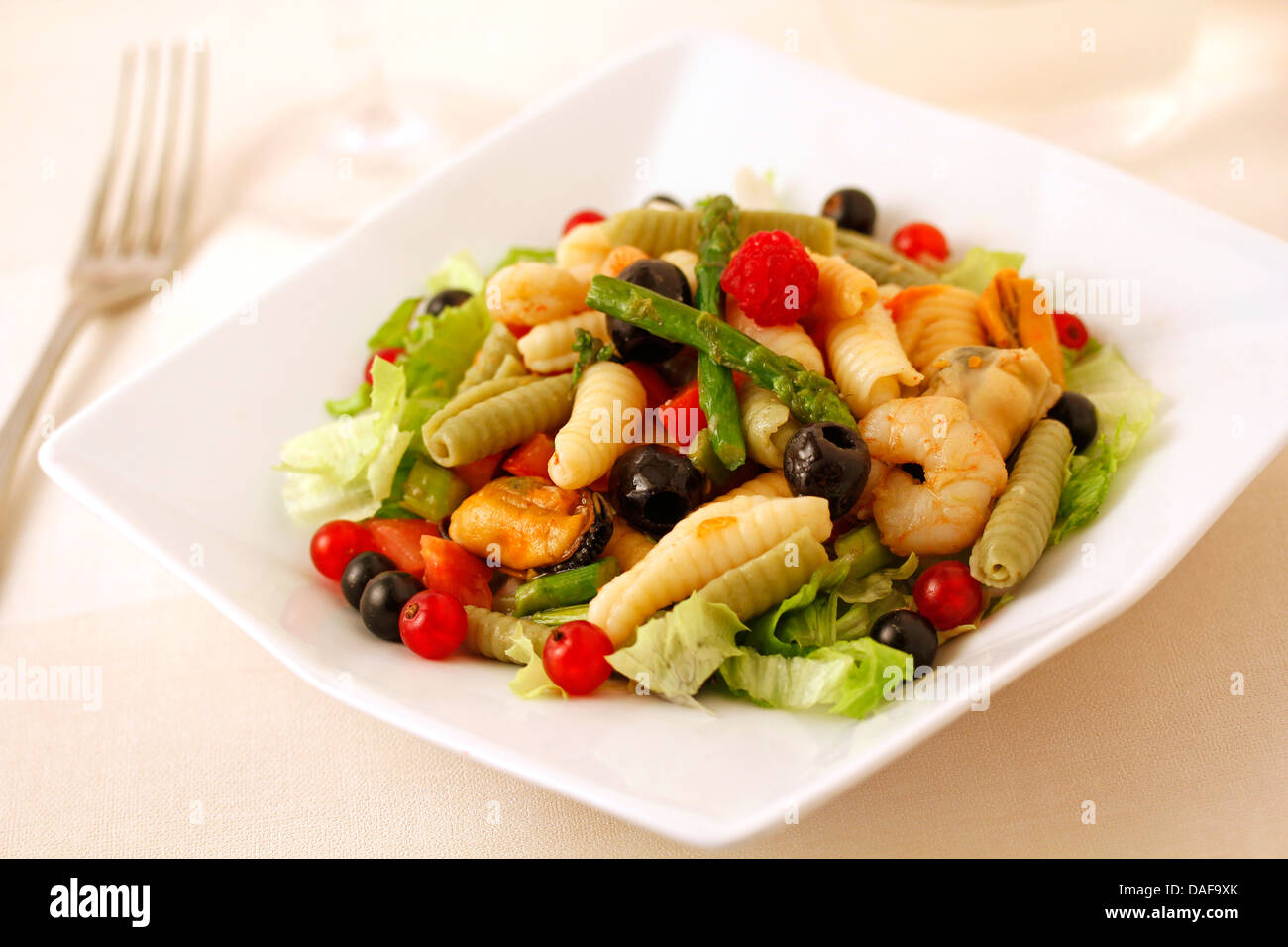 Sea and forest salad. Recipe available. - Stock Image