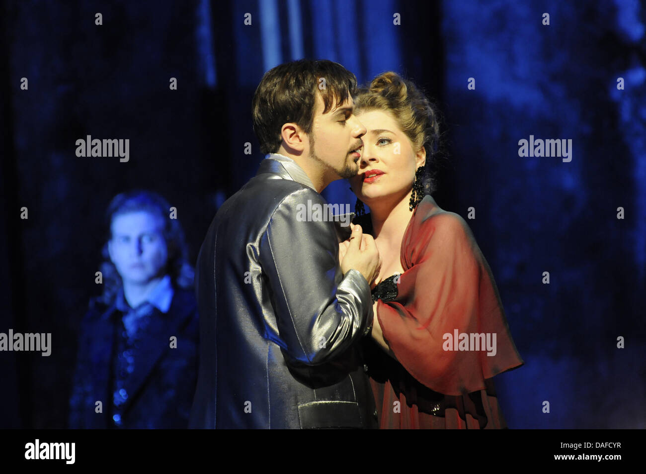 A handout from the Badisches Staatstheater Karlsruhe dated 16 February 2011 shows a scene from the opera production - Stock Image