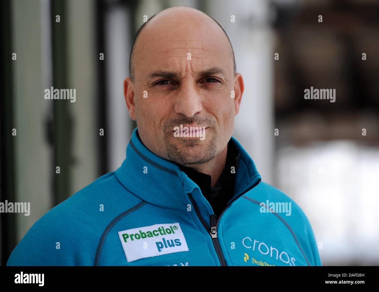 Der belgische Bobpilot Marc Sluszny, aufgenommen am Montag (21.02.2011) in Schönau am Königsee (Oberbayern). Sluszny Stock Photo