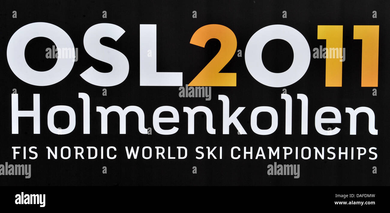 The logo of the FIS Nordic World Ski Championships 2011 in Oslo, Norway, 22 February 2011. The FIS Nordic World - Stock Image