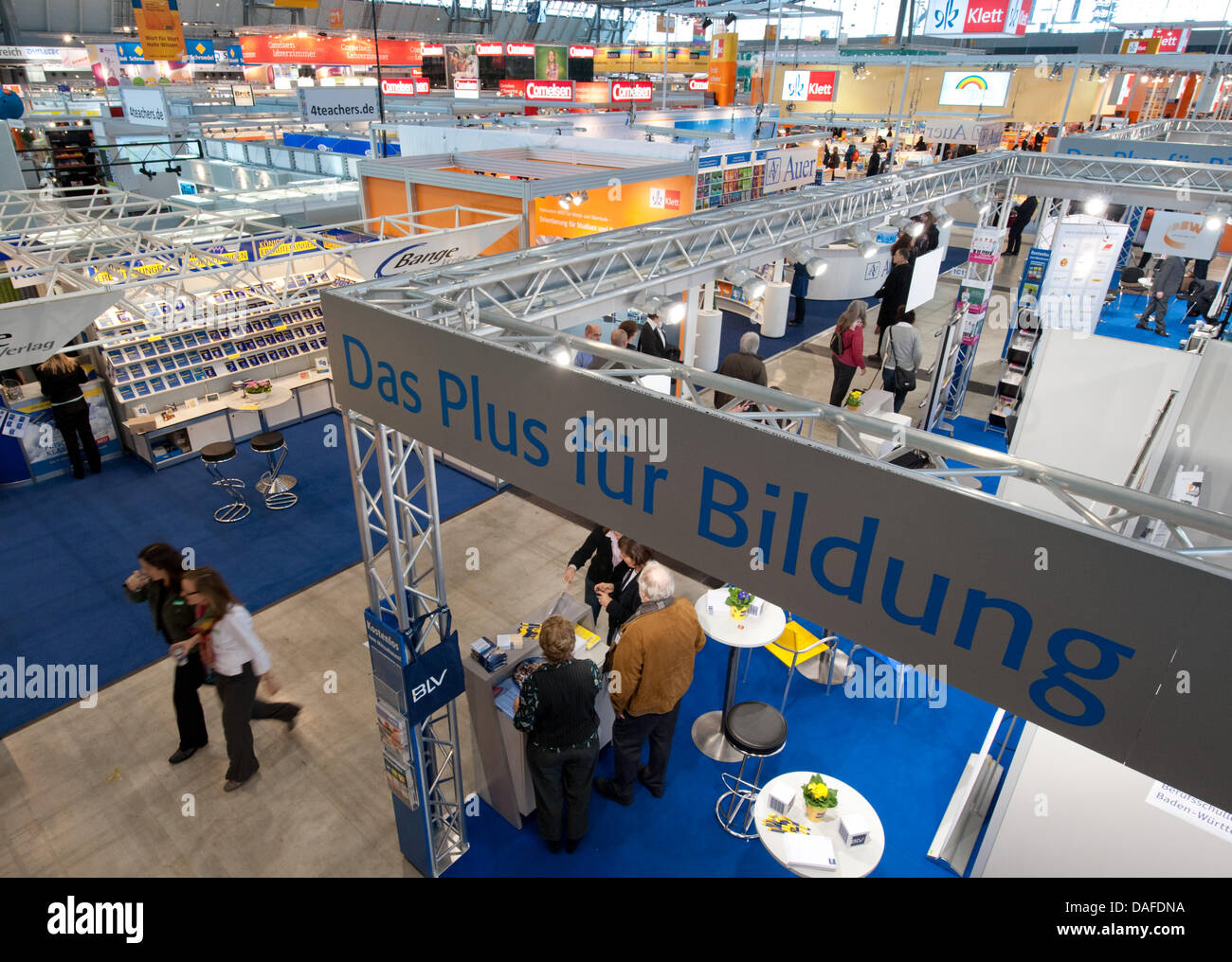 View over 'didacta' education trade fair in Stuttgart, Germany, 22 February 2011. A total of 863 - Stock Image