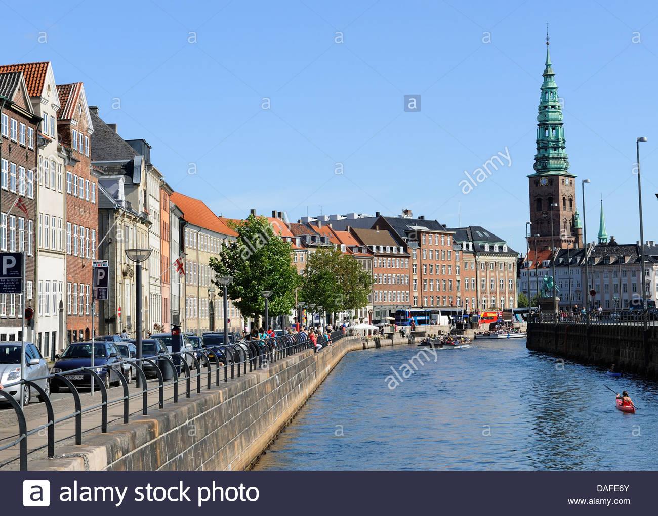 Denmark, Copenhagen, View of Frederiksholm Kanal - Stock Image