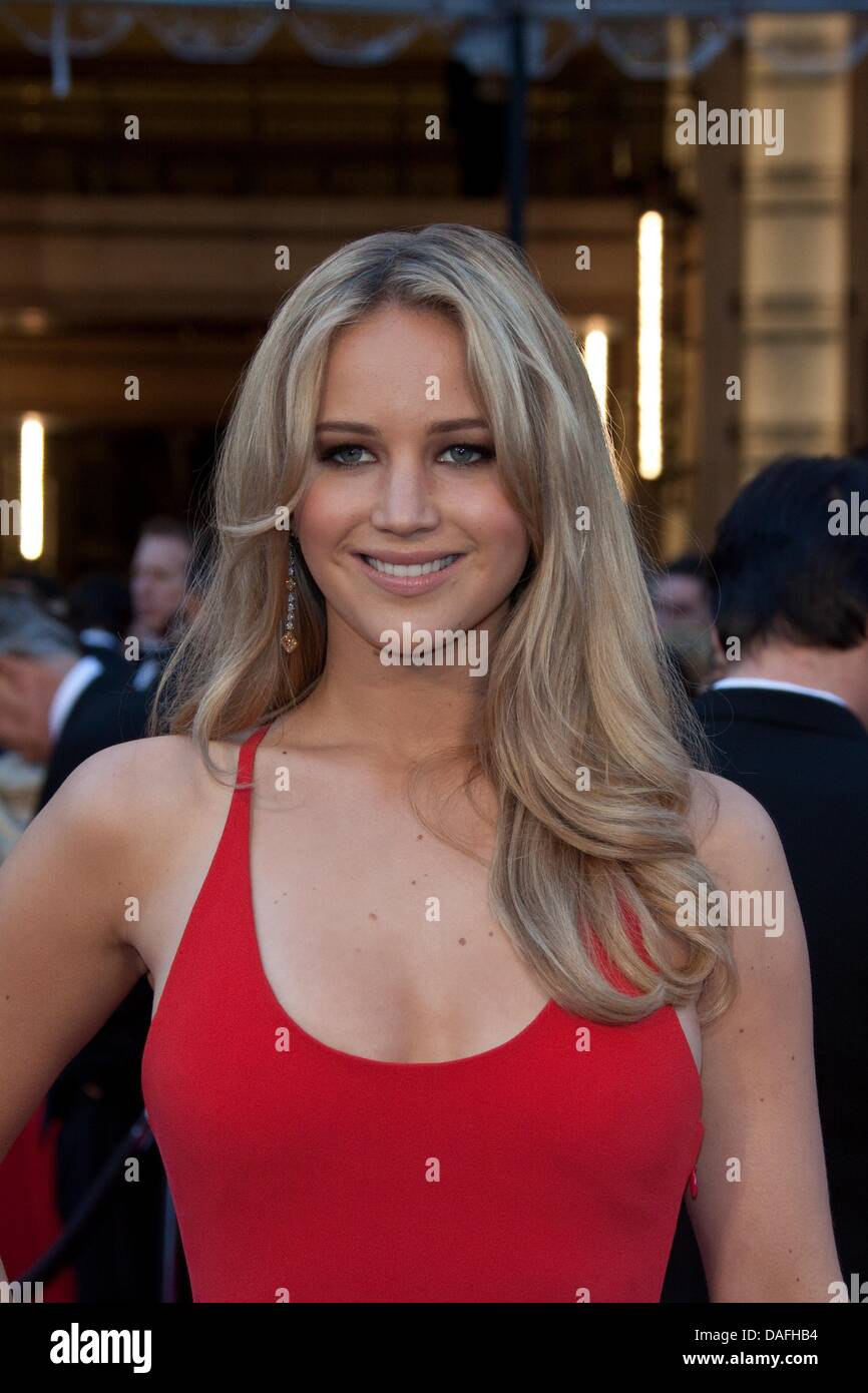 US actress Jennifer Lawrence arrives for the 83rd Academy Awards, the Oscars in Los Angeles, USA, 27 February 2011. - Stock Image