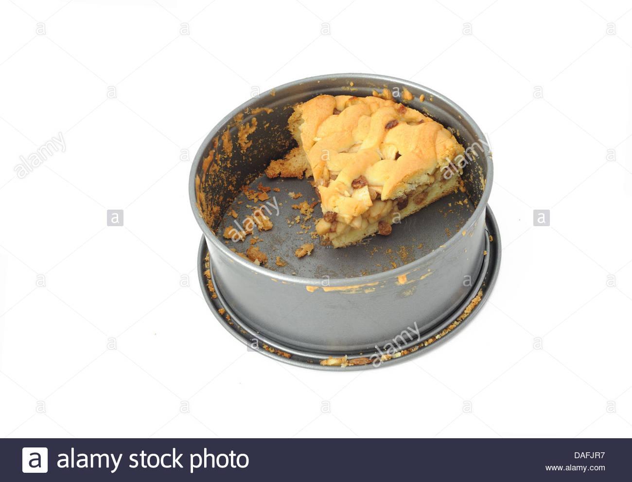 Homemade Dutch apple pie. - Stock Image