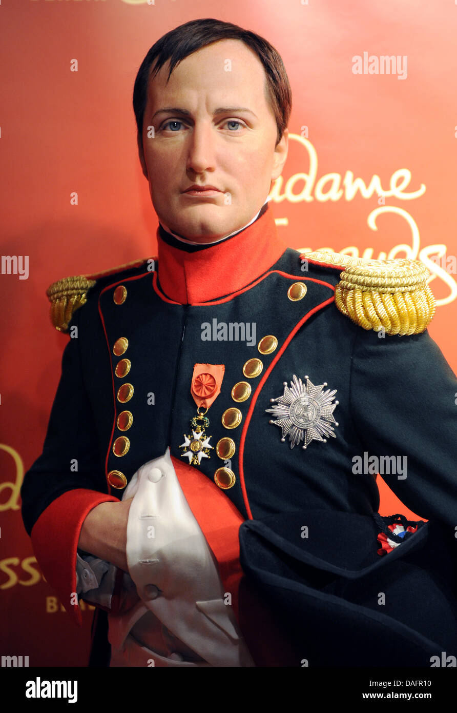 The wax figure of Napoleon Bonaparte stands in the Madame Tussauds wax museum in Berlin, Germany, 08 December 2011. Stock Photo
