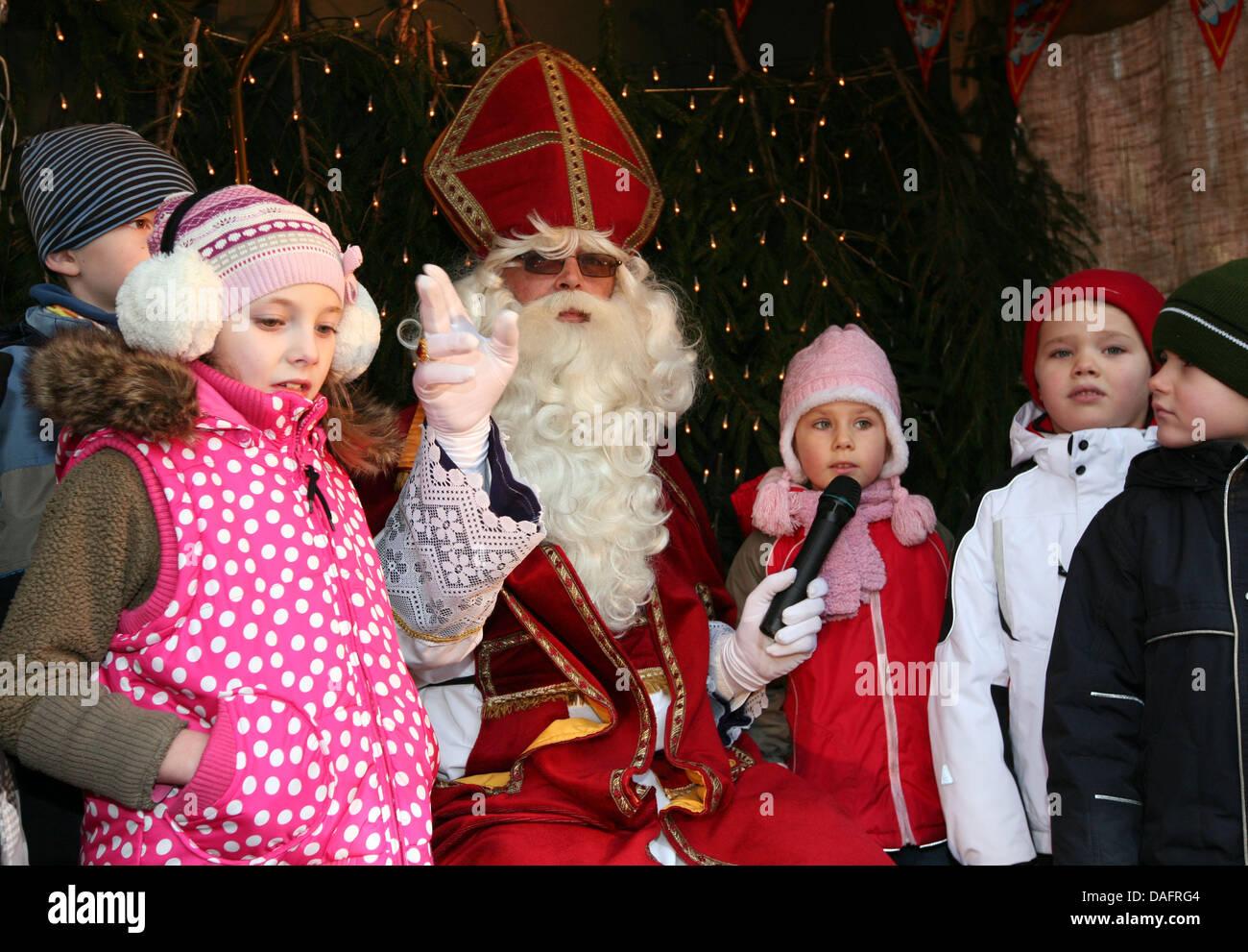Dutch Christmas.The Dutch Santa Claus Called Sinterklaas Sings Christmas