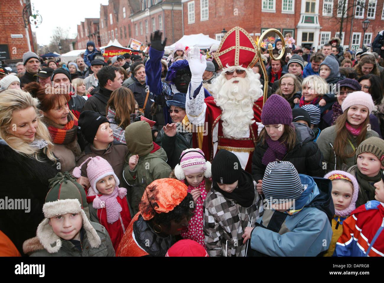 Dutch Christmas.The Dutch Santa Claus Called Sinterklaas And The Black