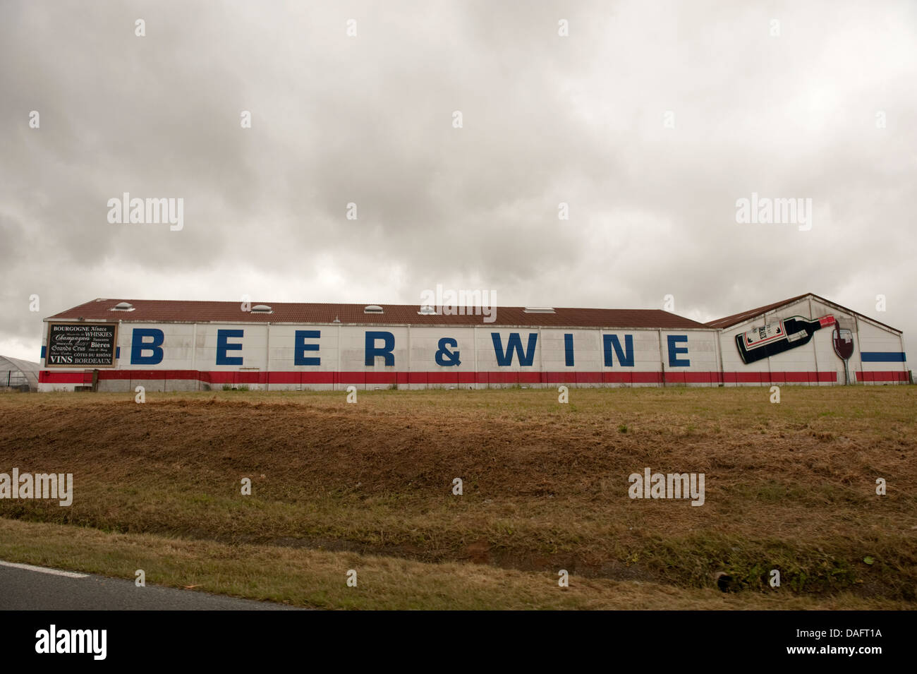 Beer & And Wine Calais France - Stock Image