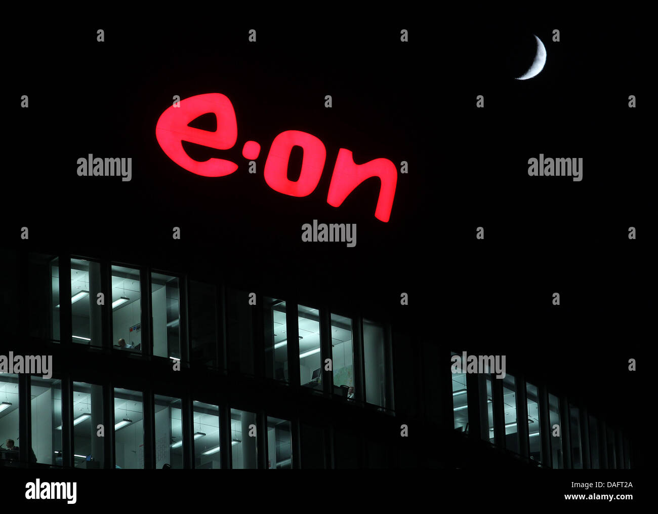 FILE - An archive picture dated 29 November  2011 shows the logo of the energy giant Eon at the Eon-Ruhrgas headquarter Stock Photo