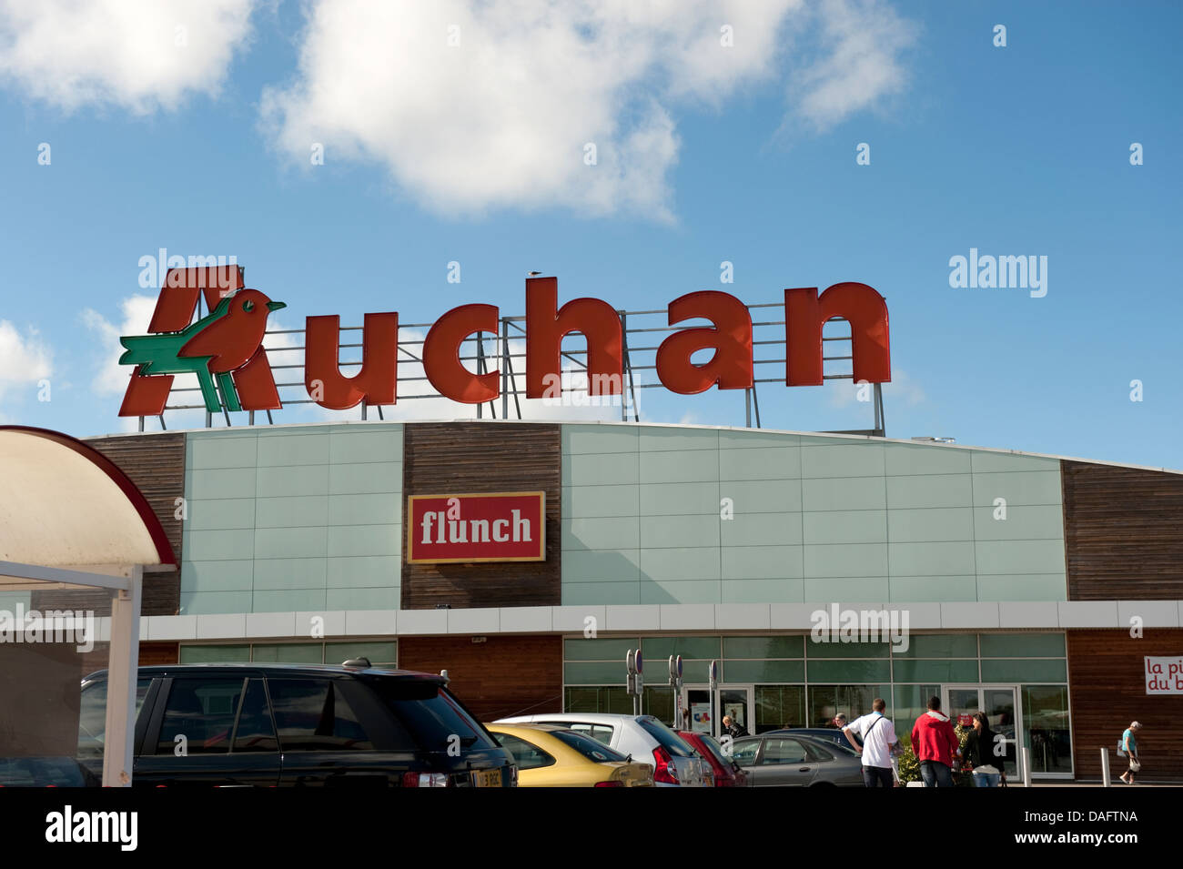 Auchan Supermarket Calais France Stock Photos & Auchan
