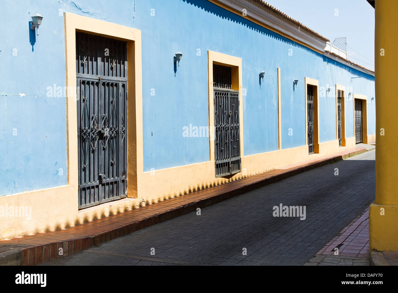 Street in historic center of Coro, Venezuela. - Stock Image