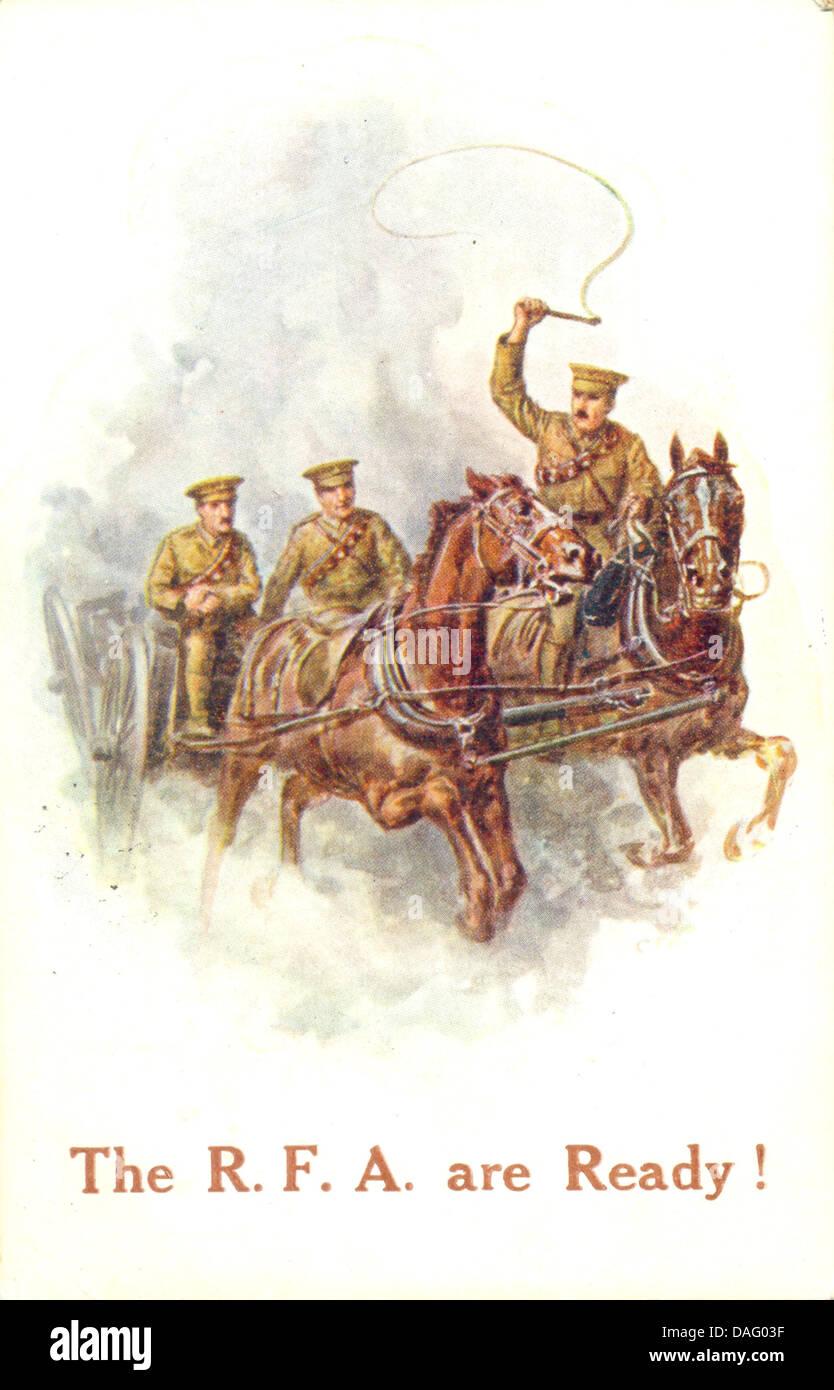 World War One  patriotic postcard - Stock Image