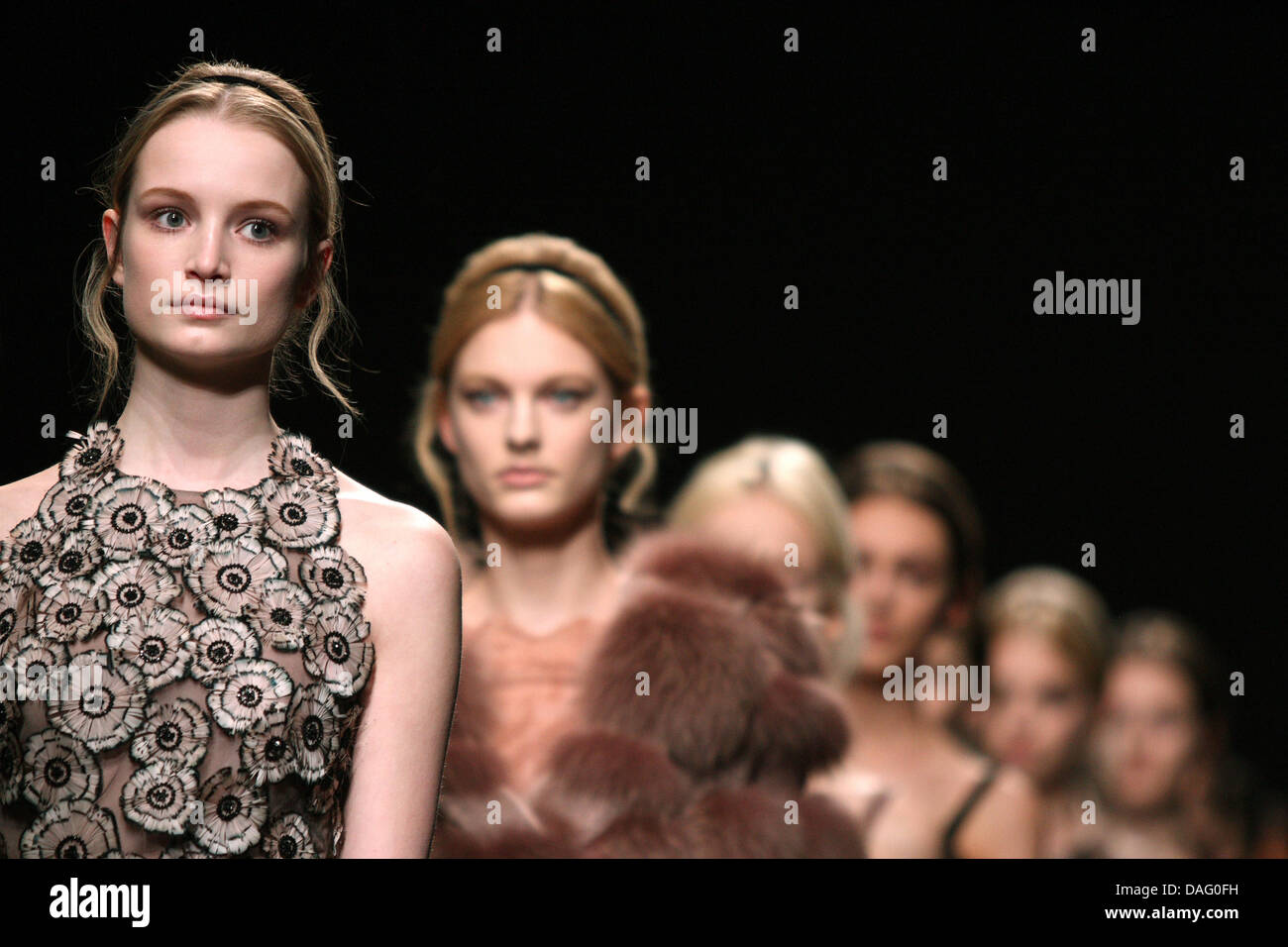0853f0e307d85c Models present creations by Italian fashion house Valentino during the  Paris Fashion Week Fall-Winter